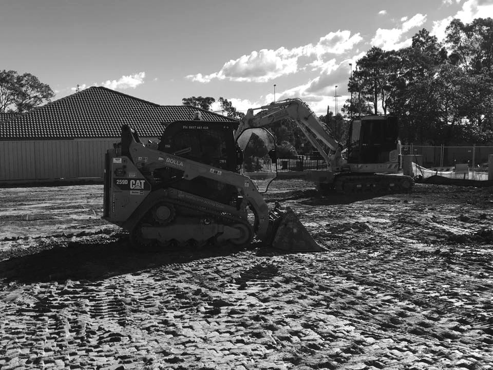 Road Construction Kerb And Guttering Plant Hire Earthmoving